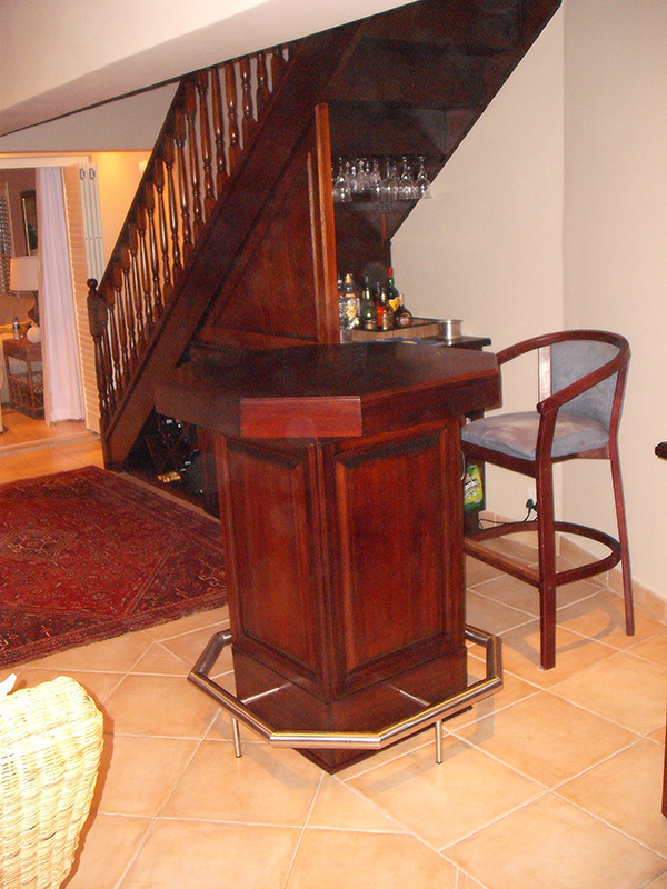 Bar under staircase