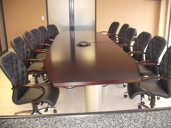 Mahogany Stained Boardroom Table